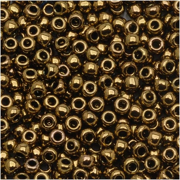 Toho Round Seed Beads 6/0 223 'Antique Bronze' 8g