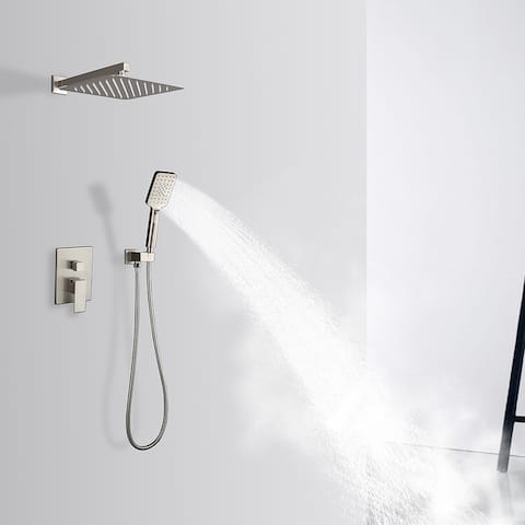 Rainlex Brush Nickel Wall-Mounted Dual Functions Shower System