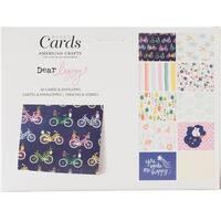 """American Crafts A2 Cards W/Envelopes (4.375""""X5.75"""") 40/Box-Dear Lizzy Star Gazer"""