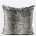 "G Home Collection Luxury Gradient Gray Faux Fur Pillow 22""X22"" - Thumbnail 0"