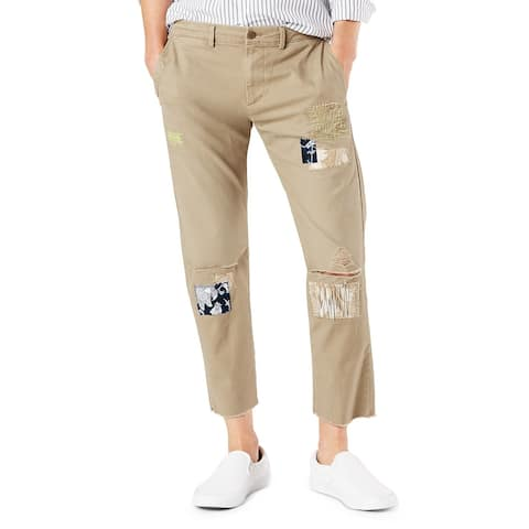 Dockers Mens Pants Beige Size 38X29 Slim Fit Patchwork Chino Stretch