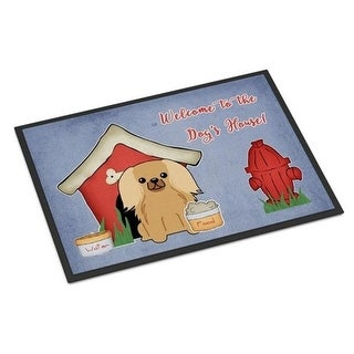 Carolines Treasures BB2858MAT Dog House Collection Pekingnese Fawn Sable Indoor or Outdoor Mat 18 x 0.25 x 27 in.