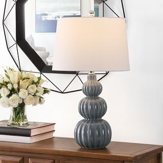 "Link to Safavieh Lighting 25.5-inch Corina Ceramic Table Lamp - 15"" x 15"" x 25.5"" Similar Items in Table Lamps"