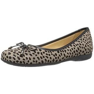 Trotters Womens Sante Ballet Flats Fur Cheetah Print