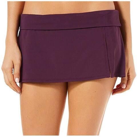 Bleu Rod Beattie Women's Kore Skirted Hipster Bikini Bottom Aubergine SZ: 6