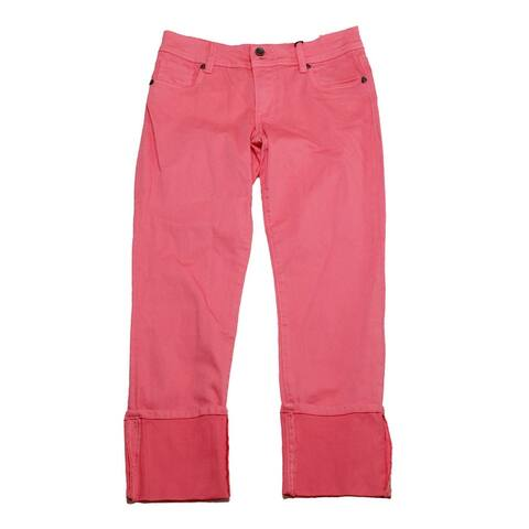 Kut From The Kloth Salmon Pink Cameron Straight Leg Jeans