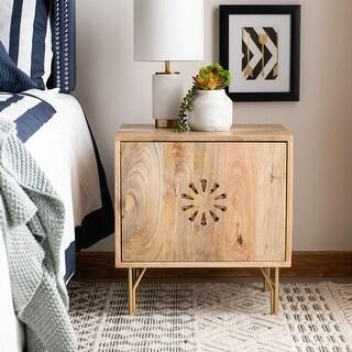 Link to SAFAVIEH Flora Modern Natural Wood Storage Nightstand Similar Items in Bedroom Furniture