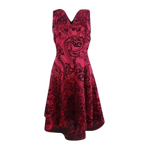 SL Fashions Women's High-Low Fit & Flare Dress