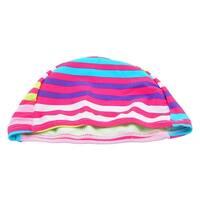 Unique Bargains Elastic Head Band Comfy Polyester Colorful Swim Cap for Ladies