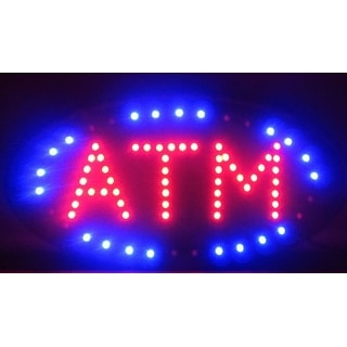 2xhome ATM Multi-Color LED Sign with Animation Effects & Motion Flashing Capabilities