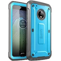 Moto G5 Plus Case, SUPCASE, Unicorn Beetle PRO Series,Full-body Rugged Holster Case- Blue/Black