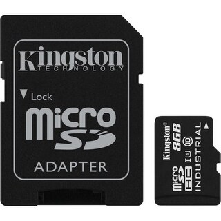 Kingston Sdcit/8Gb 8Gb Microsdhc Uhs-I Class 10 Industrial Temperature Card W/ Sd Adapter