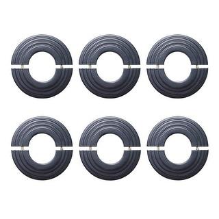 6 Radiator Flange Black Aluminum Escutcheon 1 1/4'' ID