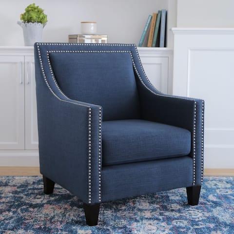 Abbyson Adrienne Fabric Nailhead Accent Chair