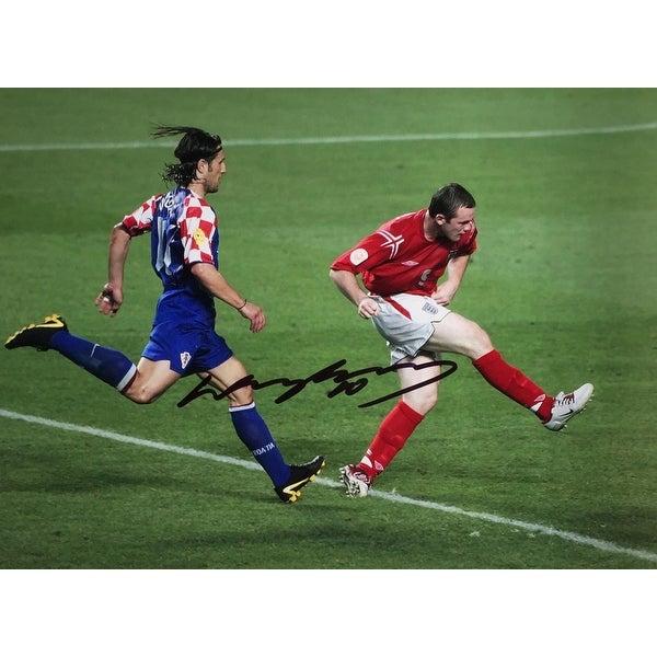 25eb2afd0 Shop Wayne Rooney Signed 12x16 England vs Croatia Soccer Photo SI+A1 ...