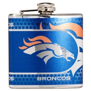 Great American Products Denver Broncos Flask Stainless Steel 6 oz. Flask