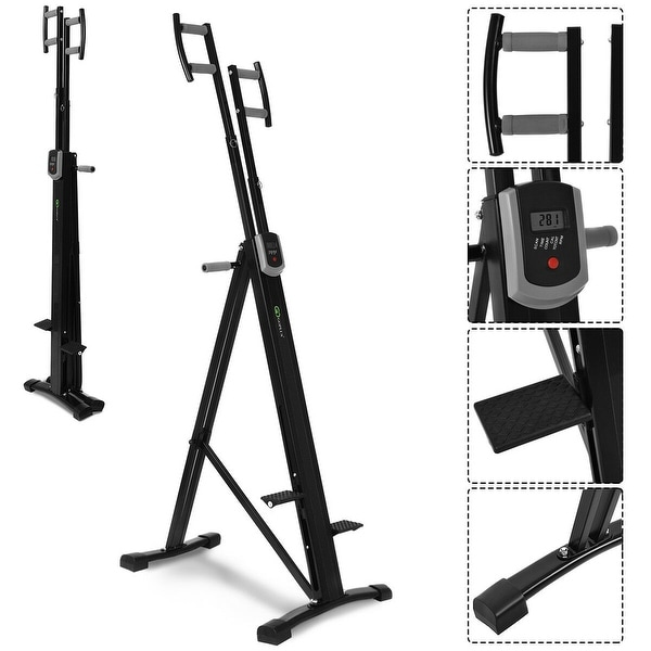 Shop costway foldable vertical climber machine exercise stepper