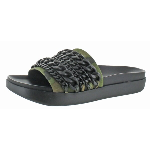 Kendall + Kylie Shiloh Women's Leather Slide Sandal