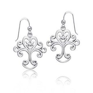 Tree of Life Dangle Earrings 925 Sterling Silver
