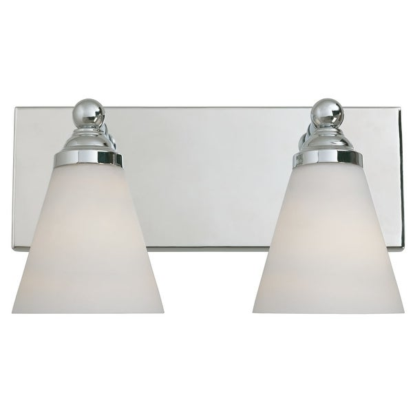 Designers Fountain 6492 Contemporary Two Light 200W Bathroom Wall Fixture from the Hudson Collection - Chrome