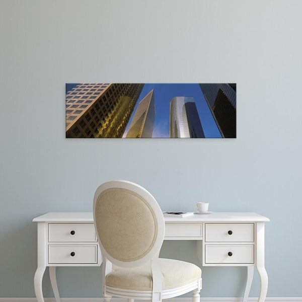 Easy Art Prints Panoramic Images's 'Skyscrapers Los Angeles CA' Premium Canvas Art