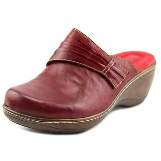 Softwalk Mason WW Round Toe Leather Clogs