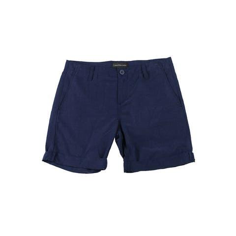 Calvin Klein Jeans Navy Cuffed Shorts 2