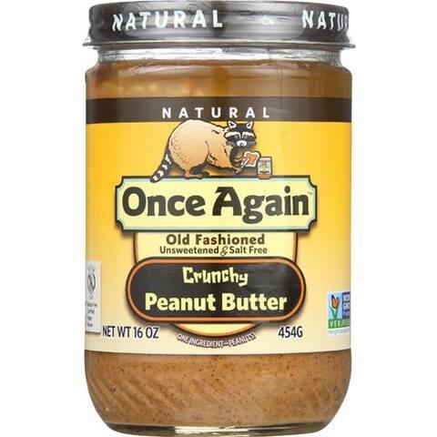 Once Again - No Salt Crunchy Peanut Butter ( 12 - 16 OZ)