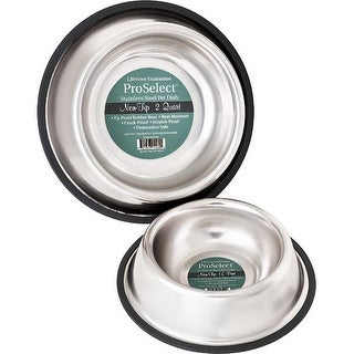 """PetEdge No-Tip Non-Skid Stainless Steel Bowl 16 oz 5"""" x 5"""" x 2"""""""
