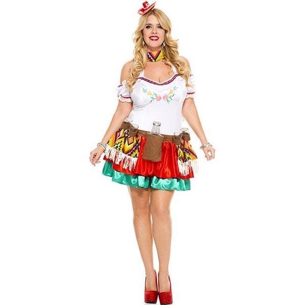 Shop 70438q 3x 4x 4 Piece Plus Size Tequila Princess Costume 3x