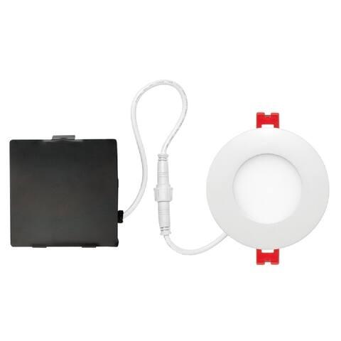 "Globe 91205 LED Recessed Slim/Round Lighting Kit, Frost, White, 3"" W"