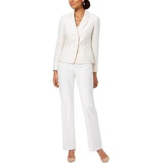 Le Suit Womens Two Button Pant Suit
