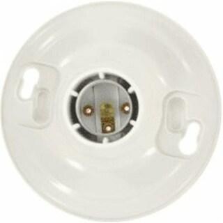 Leviton 103-08829-CW4 One-Piece Keyless Lampholder, Pvc, White