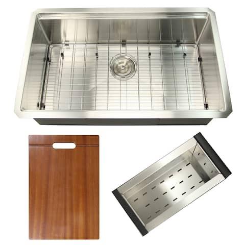 31-inch Workstation Undermount Stainless Steel Kitchen Sink - 31x 19 x 10 inches - 31x 19 x 10 inches