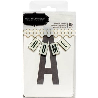 """DIY Home Banner Kit-3""""X5"""" Alphabet Cards & 3 Yards Of Twine"""