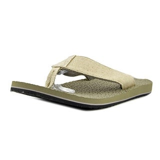 Sanuk Levi Men  Open Toe Canvas Tan Flip Flop Sandal