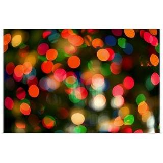 """""""Christmas lights"""" Poster Print"""