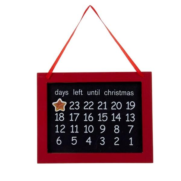 "7.5"" Magnetic Chalkboard ""Days Left Until Christmas"" Advent Calender Christmas Ornament"