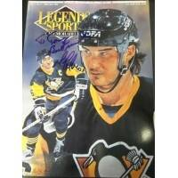 Signed Lemieux Mario Pittsburgh Penguins Legends Sports Price Guide on the cover P To Tony autograp