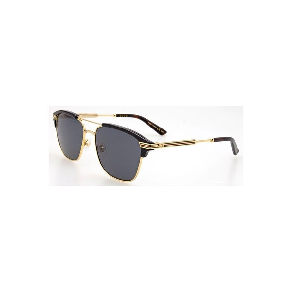 efd09debae Shop Gucci Grey Square Sunglasses Gg0241S 002 54 - GOLD-GOLD-GREY - One  Size - Free Shipping Today - Overstock - 24266450