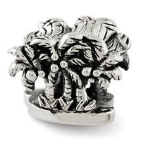 Sterling Silver Reflections Palm Trees Bead (4mm Diameter Hole)
