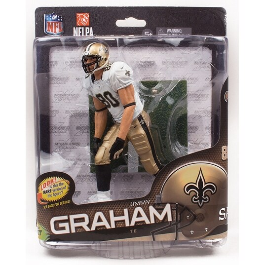 New Orleans Saints NFL S34 Figure: Jimmy Graham (White & Gold UniformVariant) - multi