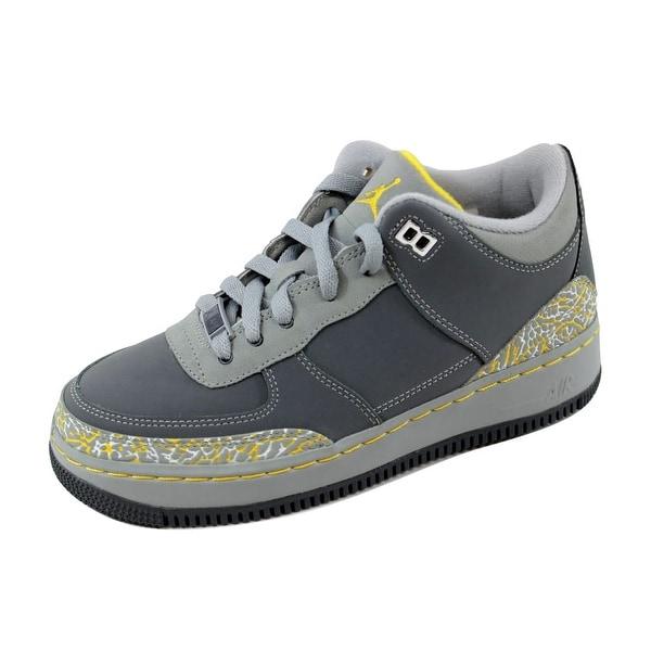 Nike Grade-School AJF 3 Air Jordan Fusion Flint Grey Varsity Maize-Silver f007bc9dfbd5