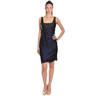 ML Monique Lhuillier  Sleeveless Lace Overlay Cocktail Evening Dress - Multi - 6