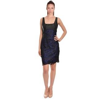 ML Monique Lhuillier Sleeveless Lace Overlay Cocktail Evening Dress - Multi - 6