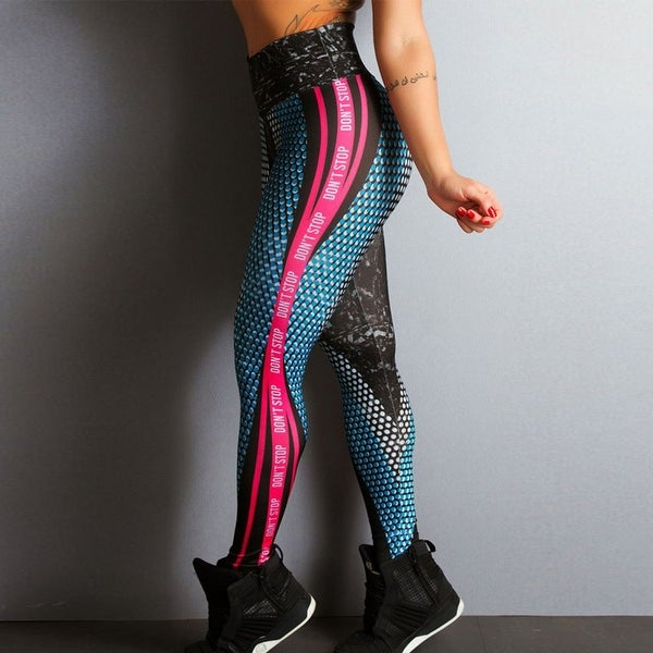 Women Gym Yoga Workout High Waist Running Pants Fitness Sports Elastic Leggings