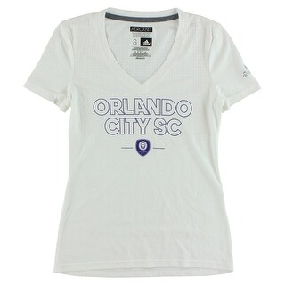 Adidas Womens Orlando City SC Club T Shirt White - White/Purple - S