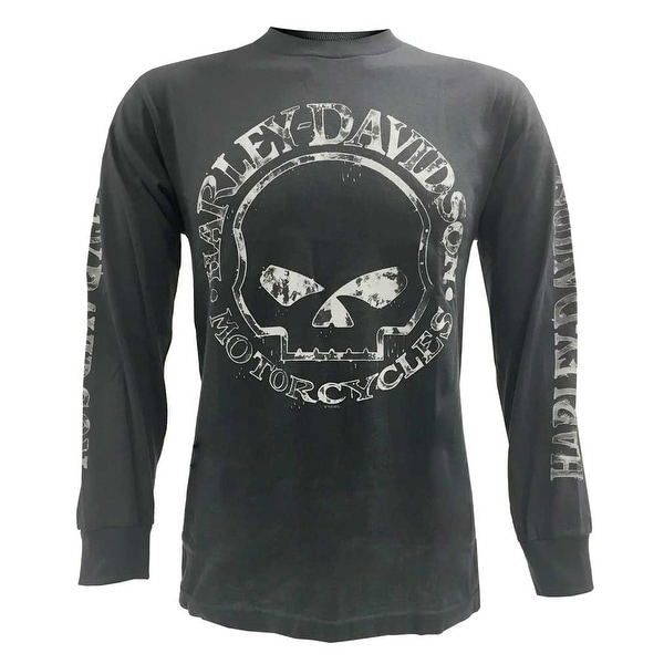 942075d967 Shop Harley-Davidson Men's Willie G Skull Long Sleeve T-Shirt Tee Charcoal  30296652 - Free Shipping On Orders Over $45 - Overstock - 17762052