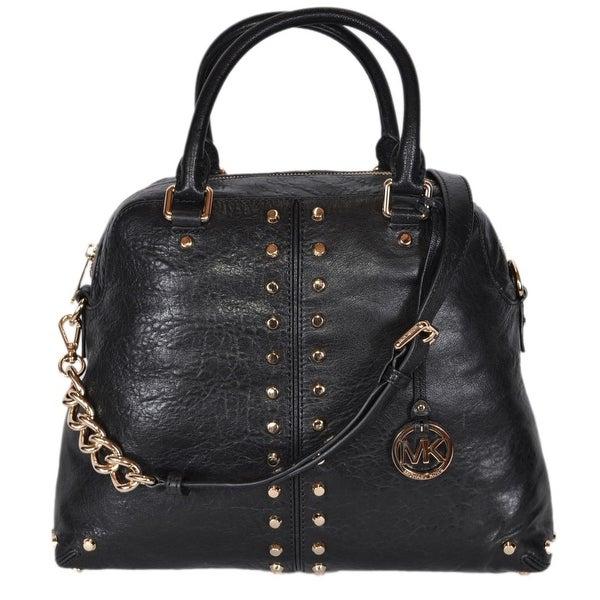 5fdb2cd4df19 Michael Kors Large Black Leather Uptown Astor Convertible Dome Handbag -  14.25