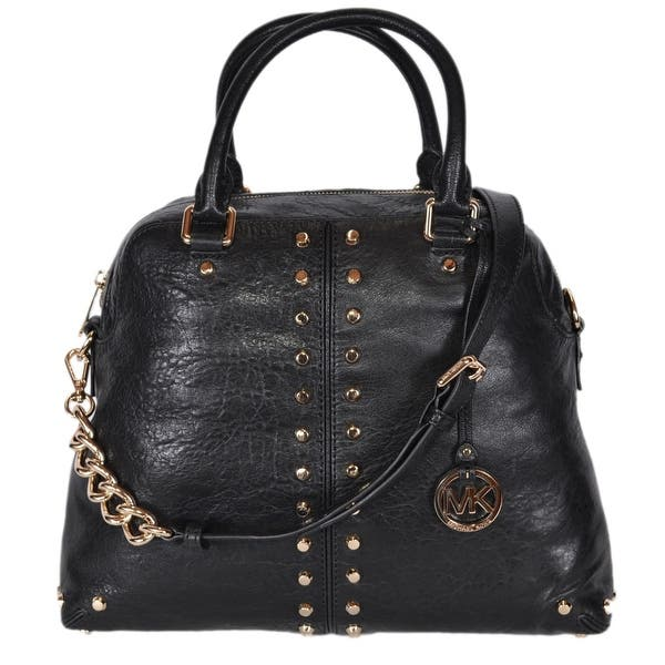 cba33eaf4 Michael Kors Large Black Leather Uptown Astor Convertible Dome Handbag -  14.25
